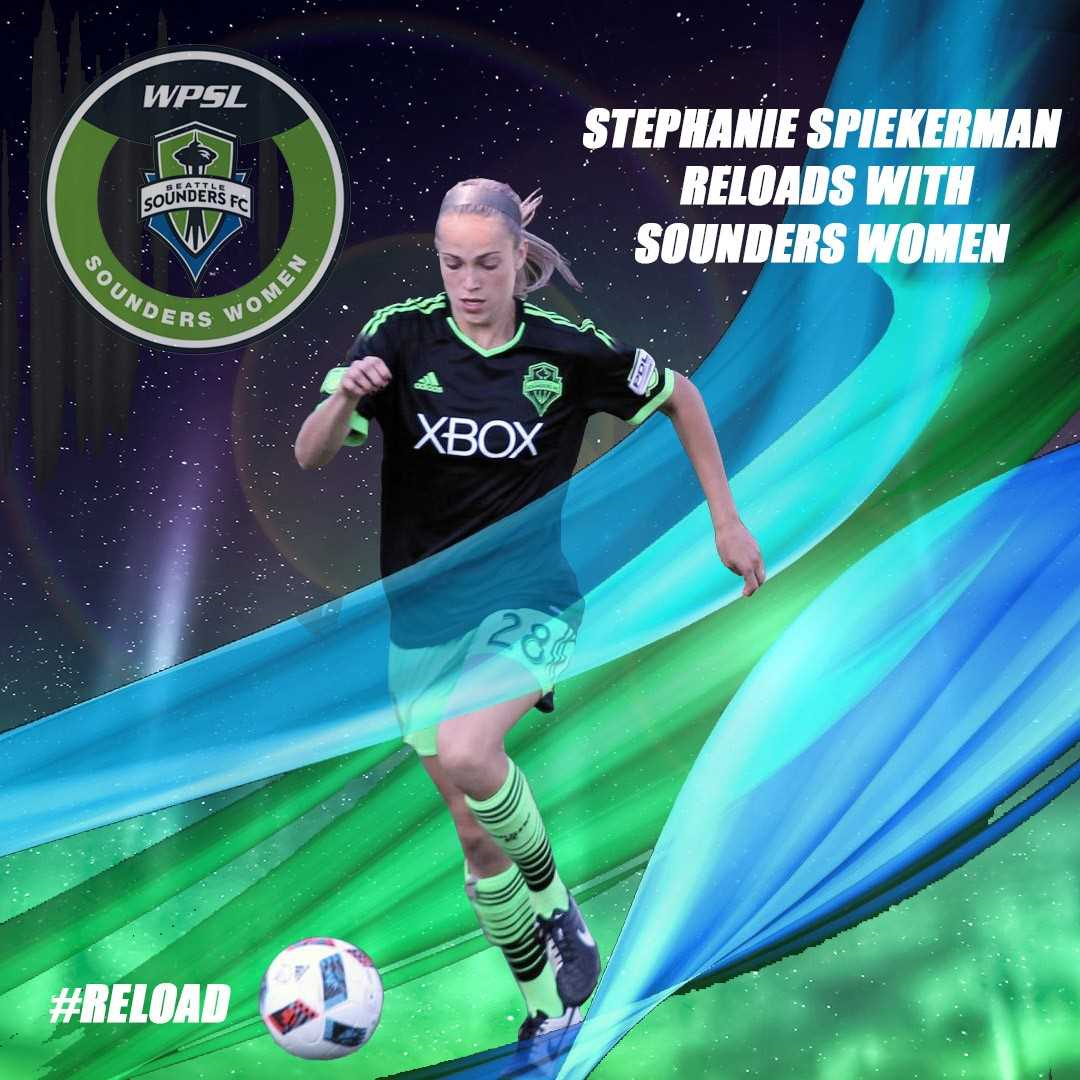 Stephanie Spiekerman reloads with Sounders Women